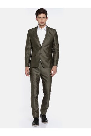 Parx Men Brown Single-Breasted Urban Fit Formal Suit