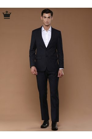 Louis Philippe Men Navy Single-Breasted Ultra Fit Formal Suit