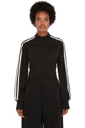 Y-3 Women Sweatshirts - 3-stripes Cropped Techno Sweatshirt