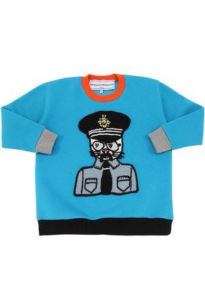 MICHAELA BUERGER Boys Sweatshirts - Cotton Sweatshirt W/ Knit Patch
