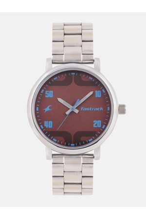 Fastrack Men Brown Analogue Watch 38052SM05