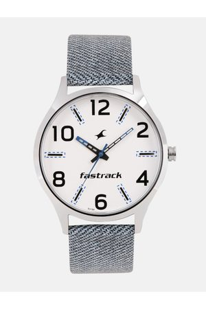 Fastrack Men White Analogue Watch 3184SL01