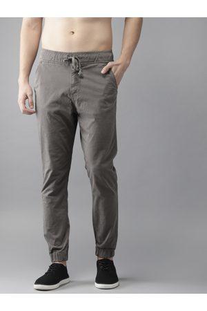 HERE&NOW Men Grey Regular Fit Solid Joggers