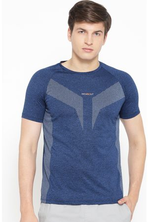 Sweet Dreams Men Navy Blue Printed Round Neck T-shirt