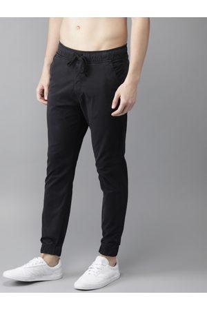 HERE&NOW Men Black Regular Fit Solid Joggers