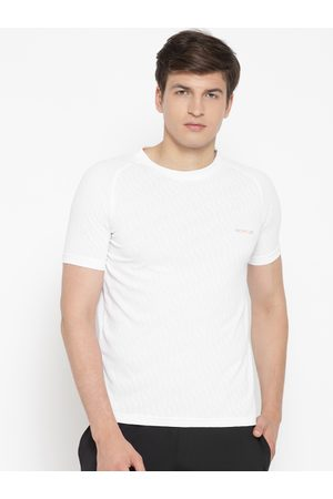 Sweet Dreams Men White Self-Design Lounge T-shirt MT-1866A9