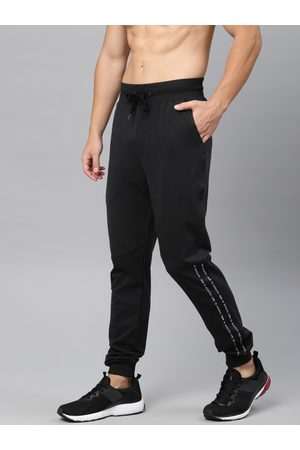 HRX Men Black Slim Fit Athleisure Solid Joggers
