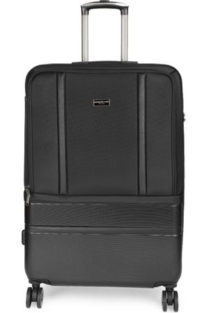 "Kenneth Cole Unisex Black New York 24"" Medium Trolley Suitcase"