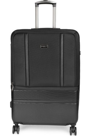 Kenneth Cole New York Unisex Black Solid Large Trolley Suitcase