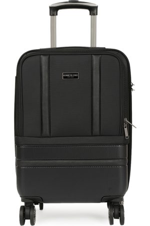 "Kenneth Cole Unisex New York Black Textured 20"" Cabin Trolley Suitcase"