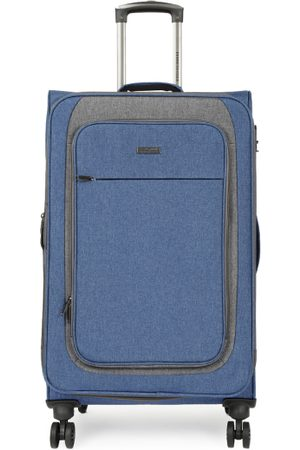 """Kenneth Cole Unisex Navy Blue Solid Reaction 28"""" Large Trolley Suitcase"""