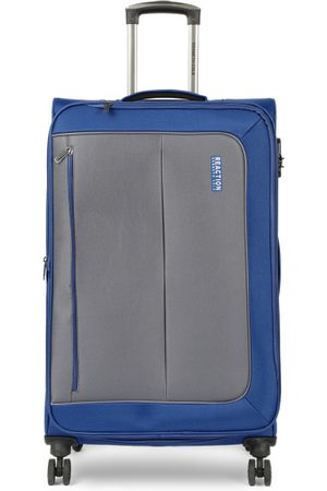 """Kenneth Cole Unisex Grey & Navy Blue Colorblocked Reaction 28"""" Large Trolley Bag"""