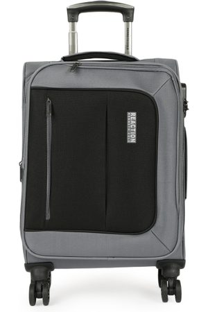 """Kenneth Cole Unisex Black & Grey Colorblocked Reaction 20"""" Cabin Trolley Bag"""