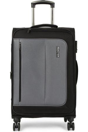 "Kenneth Cole Unisex Black & Grey Colourblocked Reaction 24"" Medium Trolley Suitcase"