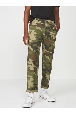 Cotton On Men Olive Green Slim Fit Camouflage Printed Regular Trousers