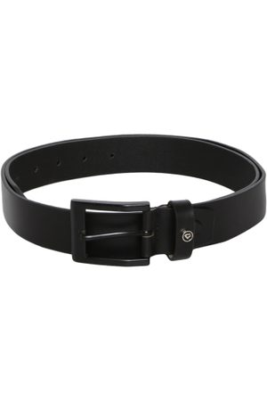Invictus Men Black Solid Leather Belt