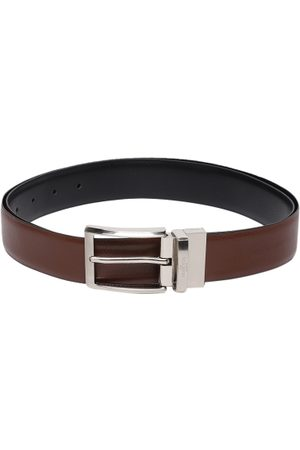 Invictus Men Belts - Men Black & Brown Textured Reversible Belt