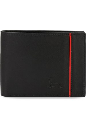 Pacific Men Black Solid Two Fold Leather Wallet