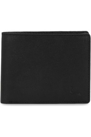 Pacific Men Black Solid Genuine Leather Two Fold Wallet