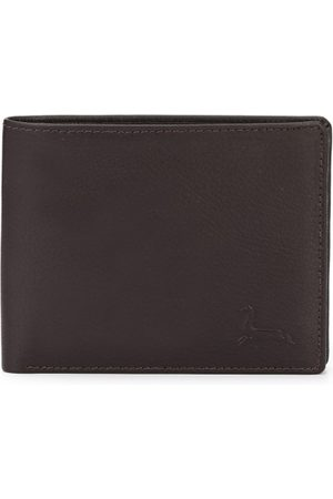 Pacific Men Coffee Brown Leather Solid Two Fold Wallet