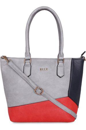 Elle Grey & Red Colourblocked Shoulder Bag