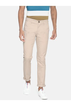 Pepe Jeans Men Beige CROMAX Slim Fit Solid Chinos