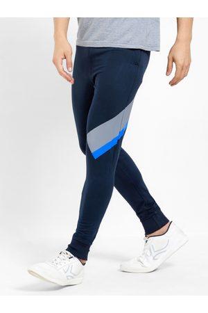 Maniac Men Navy Blue Solid Slim-Fit Joggers
