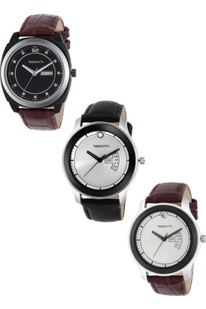 TIMESMITH Men Set of 3 Analogue Watches