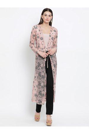 Kazo Pink Lace Tie-Up Shrug