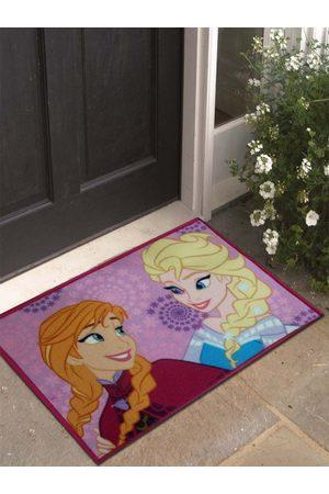 Disney Purple & Brown Frozen Printed Anti-Skid Doormat