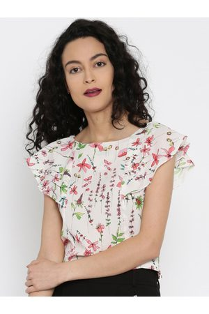Miss Chase Women Off-White Printed Top
