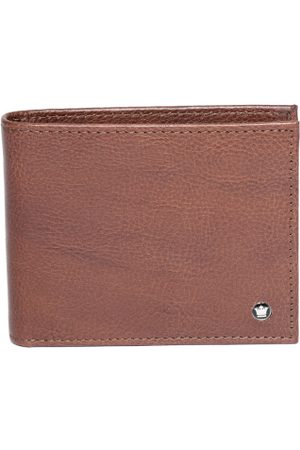 Louis Philippe Men Brown Solid Leather Two Fold Wallet