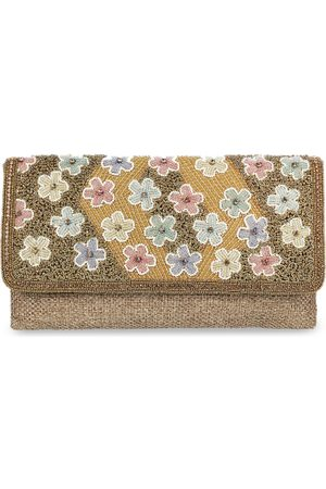 All Things Mochi Gold-Toned Embellished Clutch