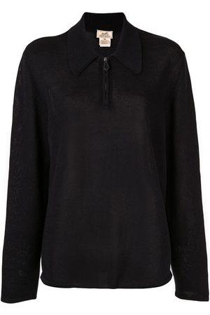 Hermès Long Sleeve Zip Up Sweatshirt
