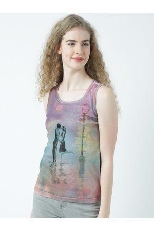 Huetrap Women Multicoloured Printed Tank Top