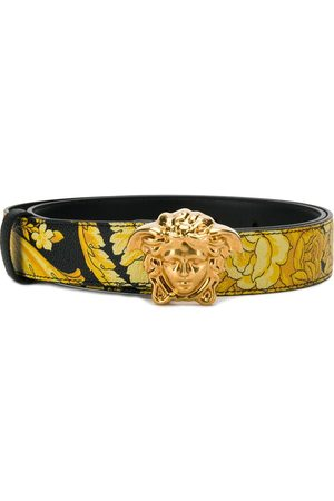 VERSACE Hibiscus print palazzo belt
