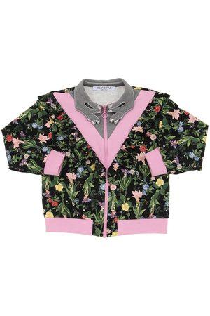 VIVETTA Floral Print Cotton Sweatshirt