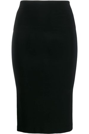 Norma Kamali Women Pencil Skirts - Mid-length fitted tube-skirt