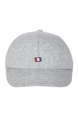 FabSeasons Men Grey Solid Baseball Cap