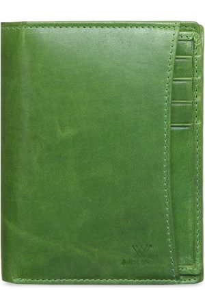 Aditi Wasan Men Green Solid Two Fold Wallet