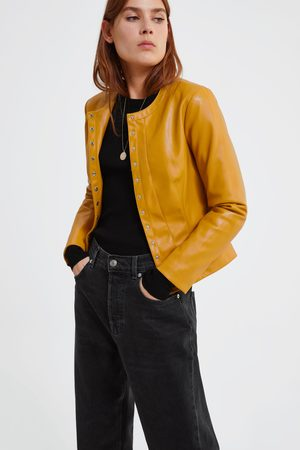 3a0a029dbb18 Buy Zara Leather Jackets for Women Online | FASHIOLA.in | Compare & buy