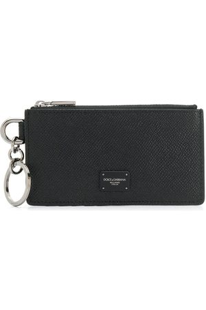 Dolce & Gabbana Logo plaque zipped cardholder
