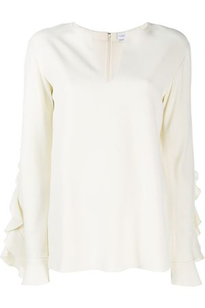 Giambattista Valli Ruffled cut-out top