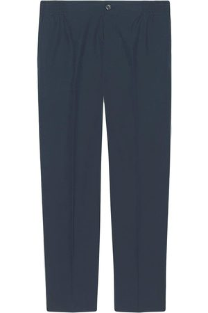 Gucci Cotton poplin pant with label