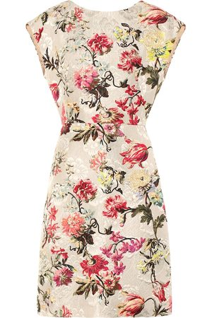 Etro Floral silk-blend brocade dress