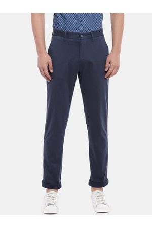 Ralph Lauren Men Navy Slim Fit Solid Regular Trousers