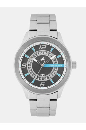 Fastrack Men Charcoal Grey Analogue Watch 38050SM02