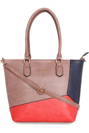 Elle Women Shoulder Bags - Brown Colourblocked Shoulder Bag