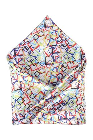Blacksmith Men Multicoloured Printed Solid Pocket Square