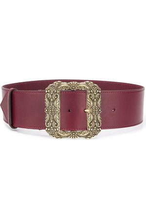 Etro Square oversized buckle belt